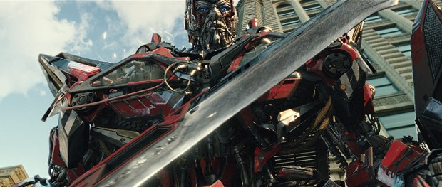 Sentinel Prime sounds like Spock and looks like Bond, but he's all mechanical.