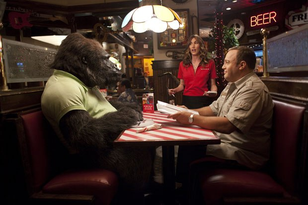 Bernie the gorilla and Kevin James' Griffin work as a buddy comedy duo.