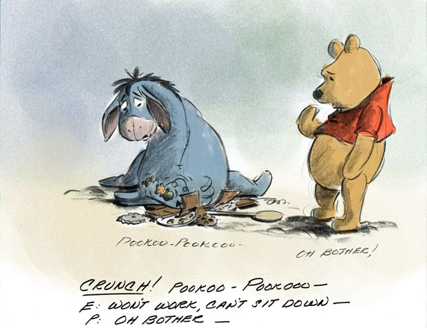 Eeyore losing his tail starts off a series of events that flow like hunny over the entire film.