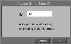 [Figure 8-34] Assign Smoothing ID dialog