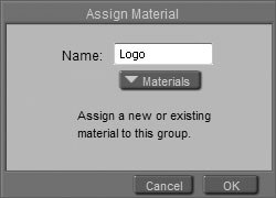 [Figure 8-36] Assign Material dialog box