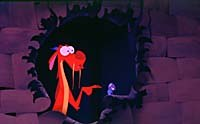 If the film does draw fire for cultural insensitivity, it's likeliest to be for its chief comic supporting character, a dragon named Mushu, shown here with his cricket companion, Cri-Kee. © Disney Enterprises, Inc. All Rights Reserved.