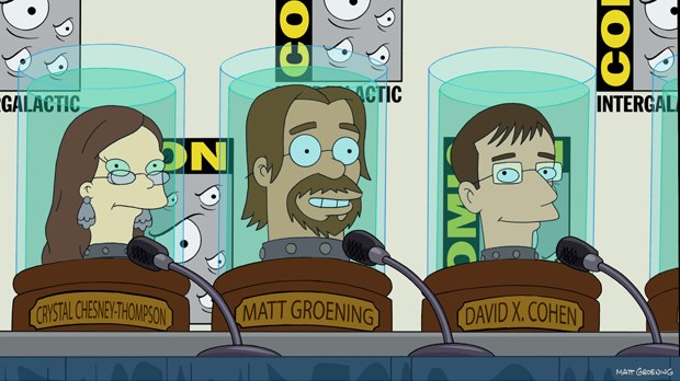 David X. Cohen, along with co-creator Matt Groening and series director Crystal Chesney-Thompson, even has to attend conventions in the future.