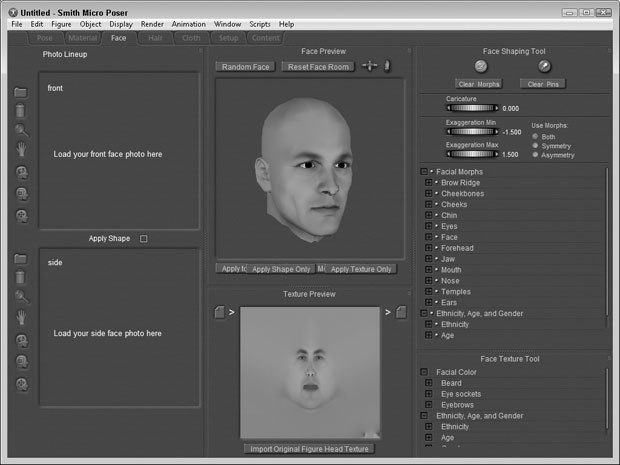 [Figure 9-1] Face Room interface