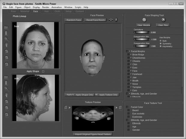 [Figure 9-11] Aligned face images