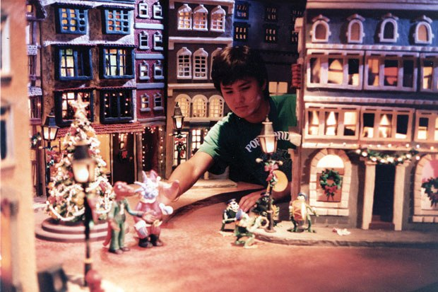 [Figure 10.5] Webster Colcord working on A Claymation Christmas Celebration. (Courtesy of Webster Colcord/Will Vinton Productions.)