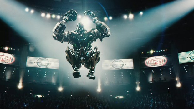 Robot on robot fighting to the extreme for DreamWorks' Real Steel.