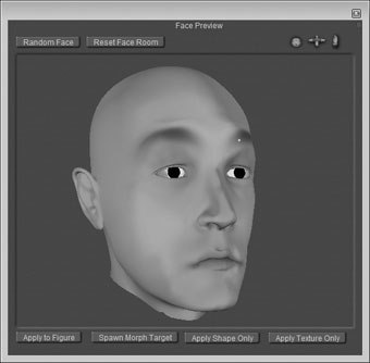 Facial wrinkles in poser 7 for