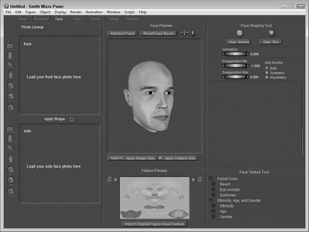 [Figure 9-22] Imported face texture