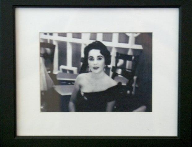 Elizabeth Taylor at Ben Thau's wedding. Ben Thau was president of MGM and Jeanne Simon's uncle.