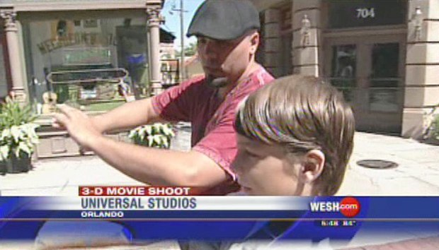 Mark Simon's 3D production featured on NBC News. Pictured are Mark's son Reece who starred in the production and director Jason Pichon.