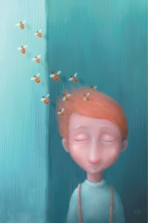 """The Boy with Bees in His Hair."""