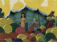 Osamu Tezuka tried to create a popular acceptance of animation in 1969 with One Thousand and One Nights which contained all the erotic innuendo of the original Persian tales. © Tezuka Productions.