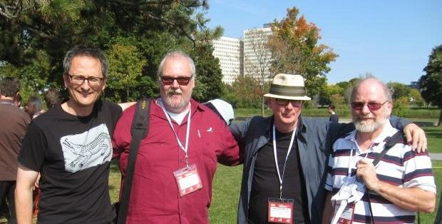 Jan Pinkava, me, new NFB head Roddy McManus and soon retired NFB head David Verrall. Minus me, also Talent with a capital T.
