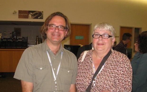 Animator Munro Ferguson and Helen Tanguay.