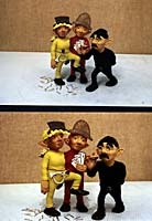 Mackinnon & Saunders' Gilbert, Sullivan and D'Oyly Carte puppets. Image courtesy of Barry Purves.