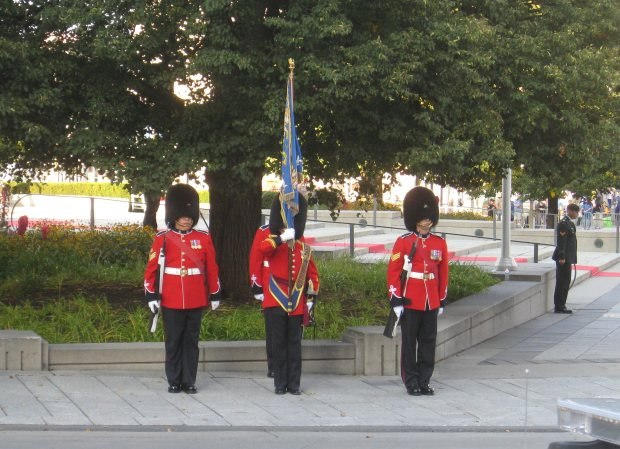 The color guard for the presentation of the NFB Prize for Best Animated Short.
