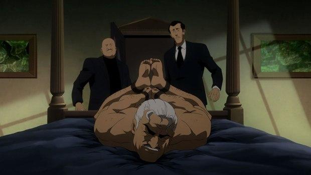 The result of Carmine Falcone meeting Batman.