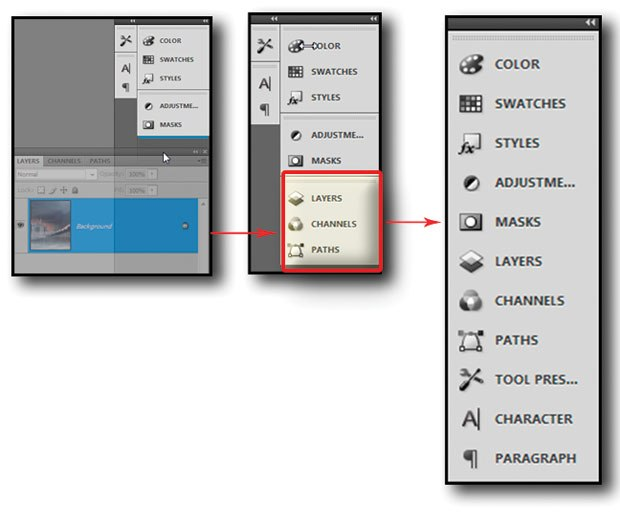 [Figure 1.22] Organize your palettes in a single folder to assist you with your workflow.