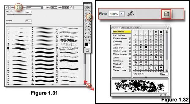 [Figure 1.31] The Paint Brush tool.