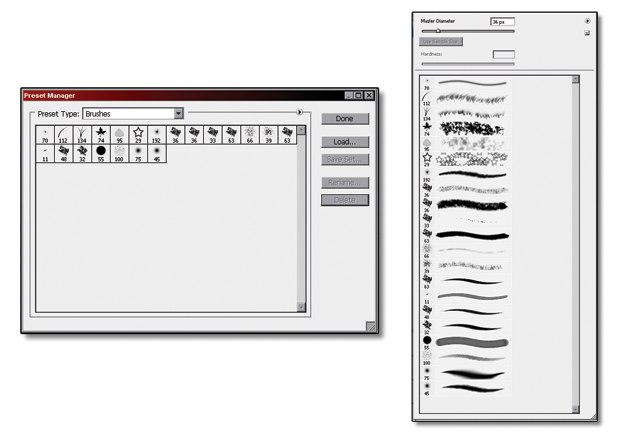[Figure 1.39] Final brushes in the Preset Manager option.