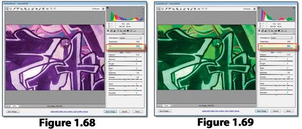 [Figure 1.68] Raw interface color tinting toward magenta.