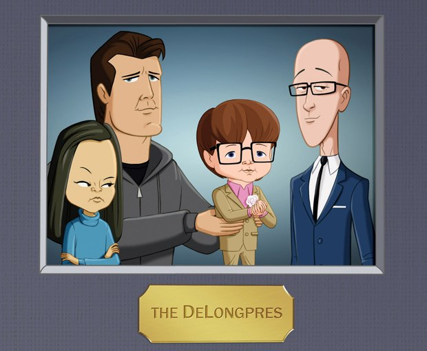 The DeLongpres are a thoroughly modern family.