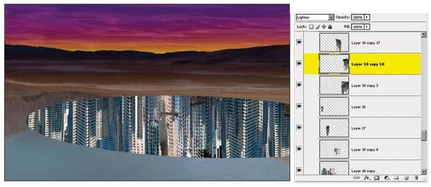 [Figure 5.23] View the landscape and city together.