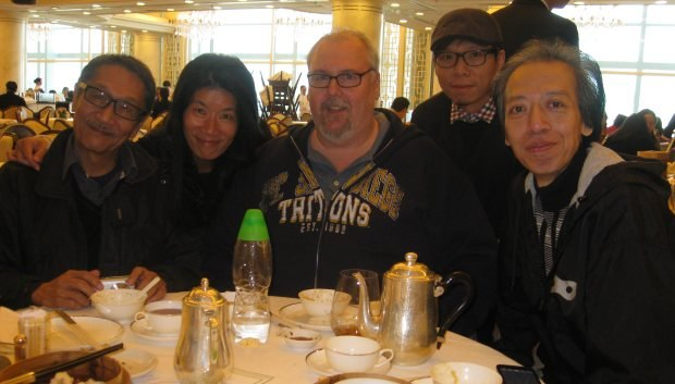 My lunch hosts, members of the Hong Kong Animation Filmmakers Society. From left to right, Frank, Emily, me, Wong Wai and Neco.