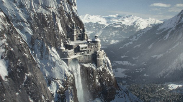 One of the great creations is the remote Switzerland castle.