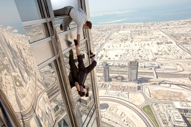 The Burj sequence makes Tom Cruise's Ethan Hunt look like Spider-Man.