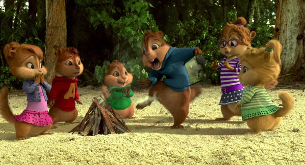 The beach sequences necessitated different fur combs for the chipmunks.