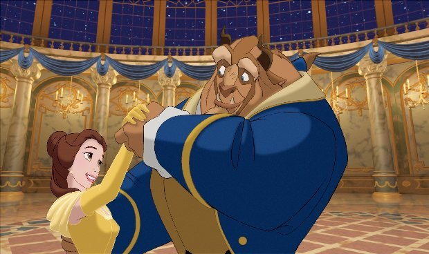 "Disney ""Beauty & the Beast 3D"" (L-R) Belle & the Beast. ©2011 Disney. All Rights Reserved."