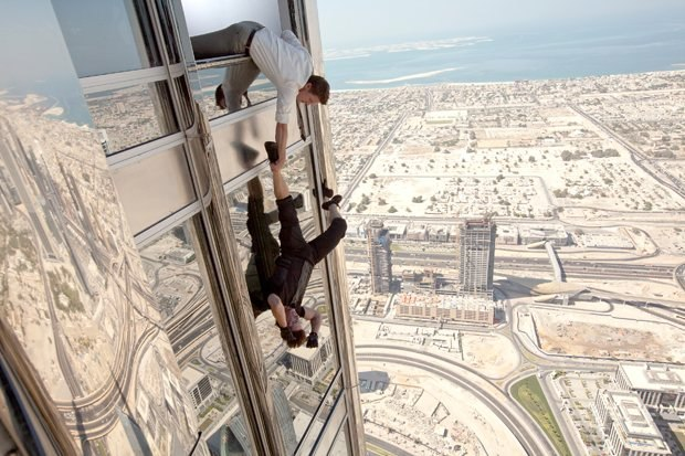 The Burj sequence makes Tom Cruise's Ethan Hunt look like Spider-Man. Mission: Impossible - Ghost Protocol. Image © 2011 Paramount Pictures. All Rights Reserved.