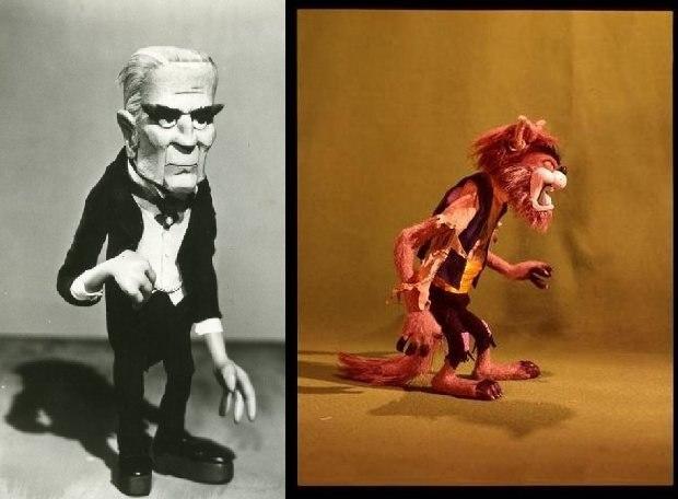 Baron von Frankenstein and the Wolfman.