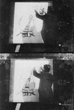 The earliest animated film in the Library of Congress is the stop-motion The Enchanted Drawing (Edison, 1900), featuring the work of movie pioneer J. Stuart Blackton.