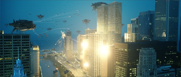 ILM closely collaborated on the Chicago shoot, the location of the epic final battle.