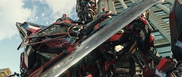 Sentinel Prime sounds like Spock and looks like Bond, but he's all mechanical.
