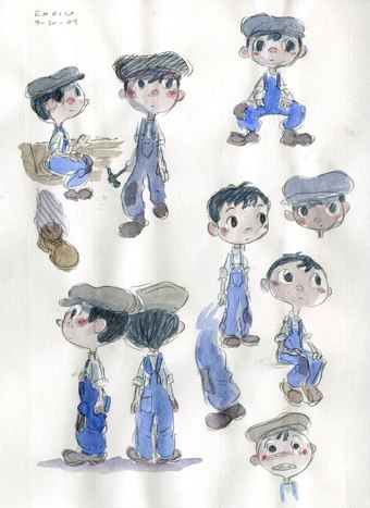 The boy was designed to be round like the moon.