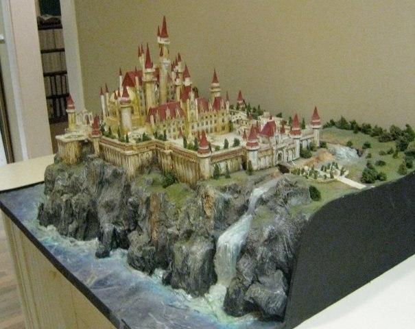 A model of fairy tale castle from Shrek 3.