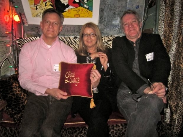 (From left to right) Lampton, Bonnie and Marc in the Love Lounge.