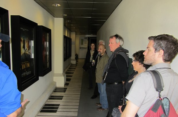 The hallway leading into the Barbra Streisand Recording Stage, a favorite sound stage for many of Hollywood's elite film composers and producers.