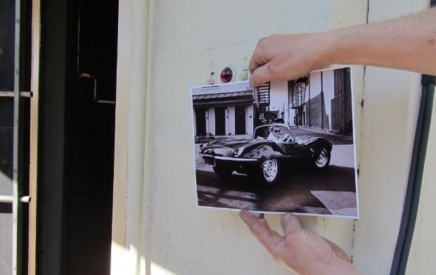 Someone from Paramount came over and showed us a picture of Steve McQueen in a sports car, shot right at the spot in front of the vaults where we were all standing. The last door on the right visible just above the rear of the car is the same valt door open in these pictures.