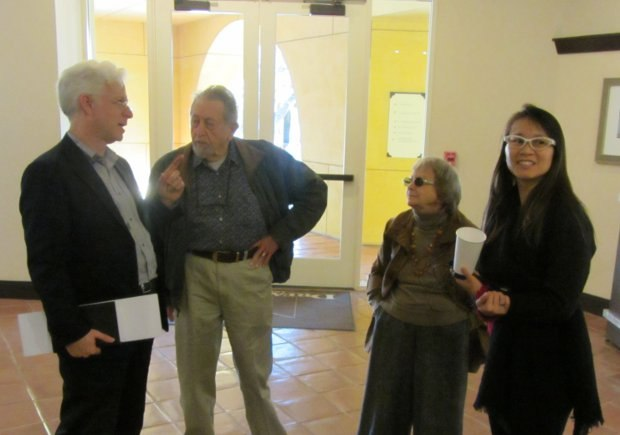 Ron Diamond, Bob and Cima Balser join our tour host, Connie Siu, as we begin our tour.