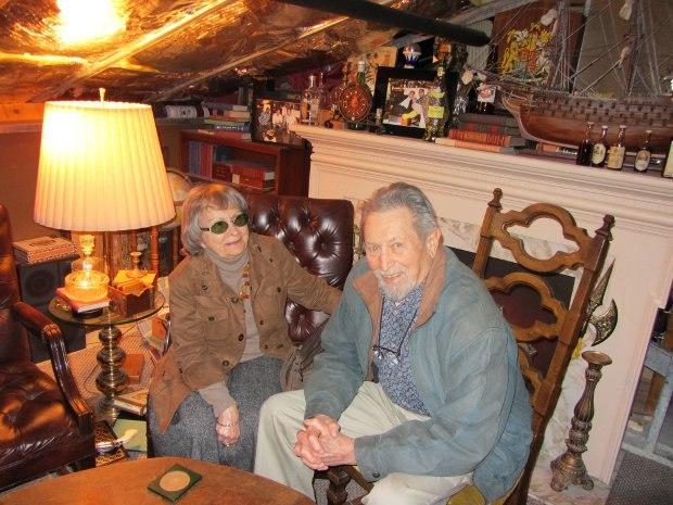 Bob and Cima Balser inside the Hidden Lounge.