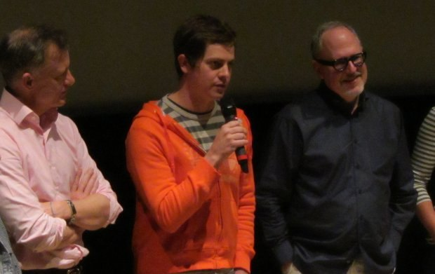 Lampton Enochs, Brandon Oldenburg and Bill Joyce field a question about their film, The Amazing Flying Books of Mr. Morris Lessmore.