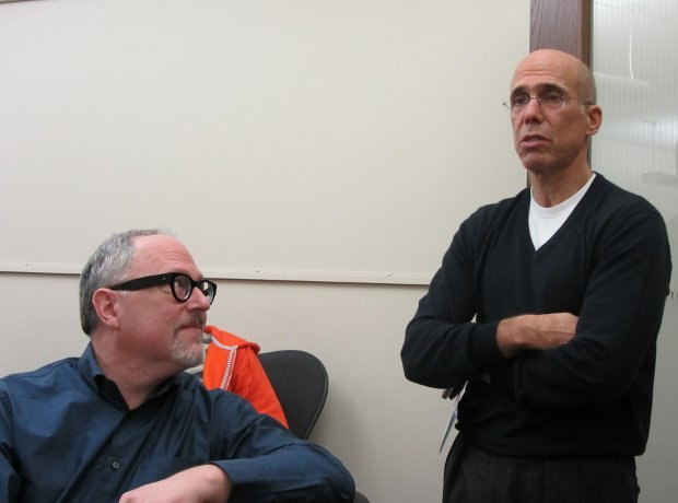 Studio head Jeffrey Katzenberg joined us for a few minutes to congratulate all the nominees on their work.