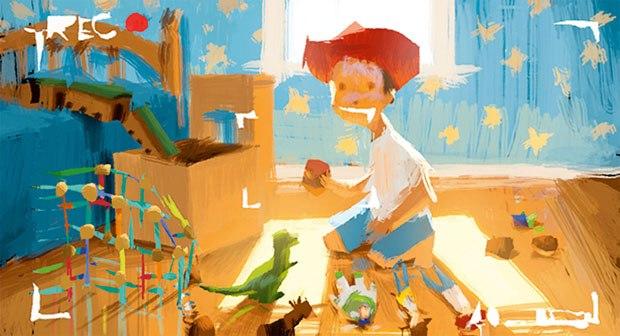 Toy Story 3. Illustration: Dice Tsutsumi, digital (2009).