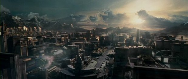 The cityscapes of the Panem Capitol were done by Rising Sun and Rhythm & Hues.