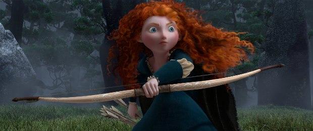 Merida readies her bow.